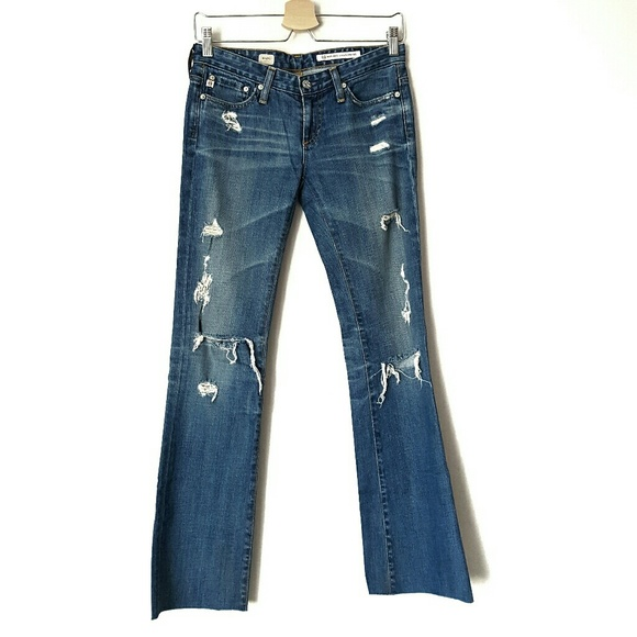 Ag Adriano Goldschmied Denim - AG distressed raw hem jeans